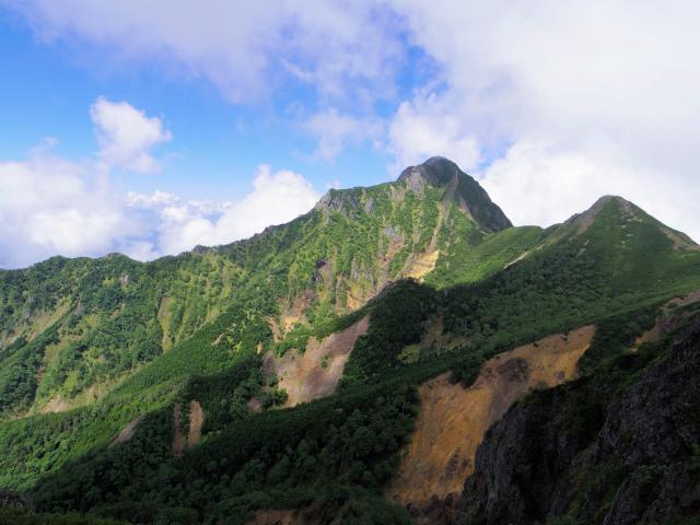 八ヶ岳・赤岳(地獄谷~ツルネ東陵)登山口コースガイド 岩峰群からの阿弥陀岳【登山口ナビ】