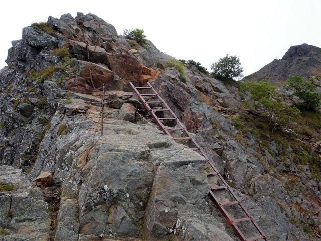 八ヶ岳・赤岳(地獄谷~ツルネ東陵)登山口コースガイド 梯子【登山口ナビ】