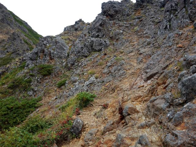 八ヶ岳・赤岳(地獄谷~ツルネ東陵)登山口コースガイド 小ピークのトラバース【登山口ナビ】
